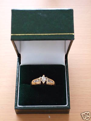 14 Carat Gold 1/4 Carat Diamond Ring